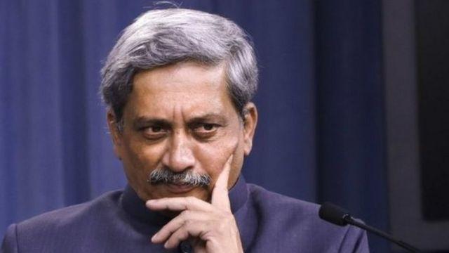 भारतीय रक्षा मंत्री मनोहर पर्रिकर