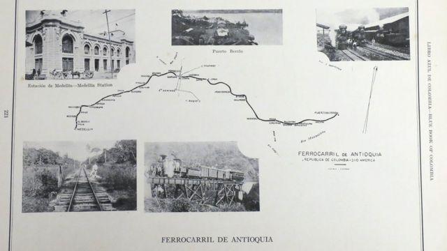 Fotos y croquis del Ferrocarril de Antioquia