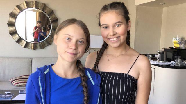 Nalleli Cobo e Greta Thunberg
