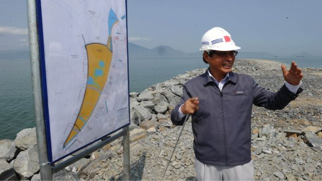 South Korean Kim Yong Moo, project manager of Da Phuoc International New Town, is developing on reclaimed land in central coastal city of Danang