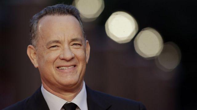 Tom Hanks, smiling