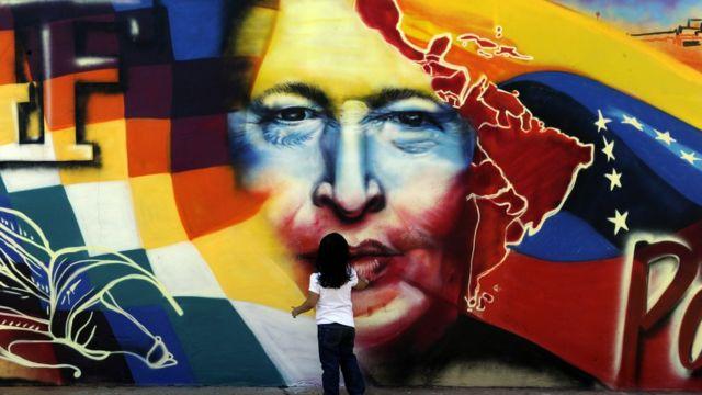 Dibujo de Hugo Chávez