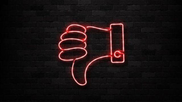 Ilustração com sinal negativo com a mão