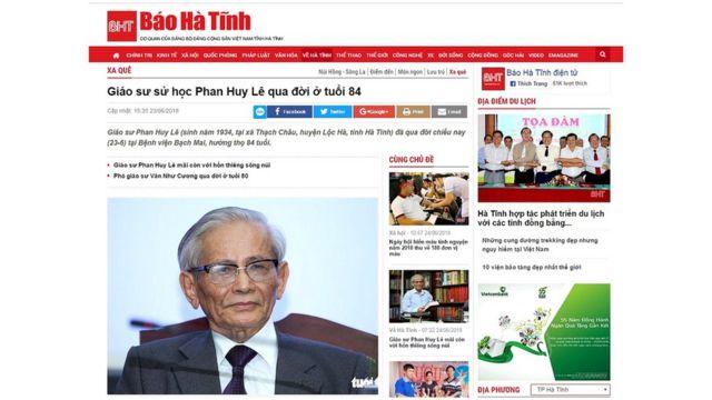 Báo Hà Tĩnh đưa tin