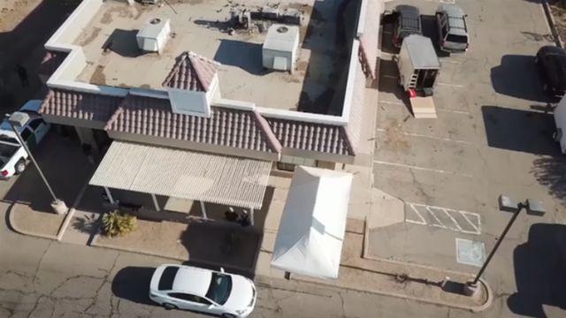 Imagen aérea del local donde funcionaba el KFC.
