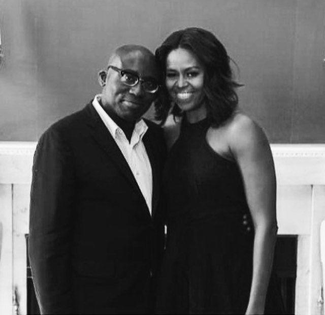 Edward Enninful com Michelle Obama