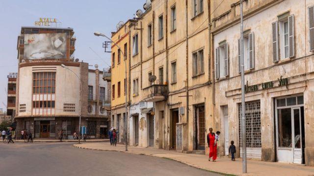 Dans une rue d'Asmara, la capitale érythréenne.