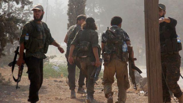 Syria war: Rebels unite after attack by Idlib jihadists