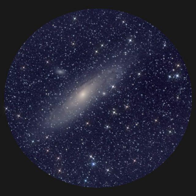 Vista del firmamento por telescopio