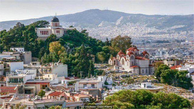 在雅典国家天文台 (National Observatory of Athens) 能够一览菲洛帕波斯山帕特农神庙 (Parthenon Philopappou Hill)风光。