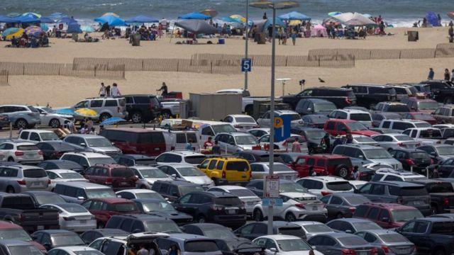 Estacionamento em Santa Monica, Los Angeles, Estados Unidos
