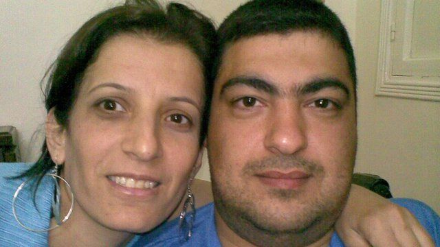 Amina Ramadan and her husband Mohamed