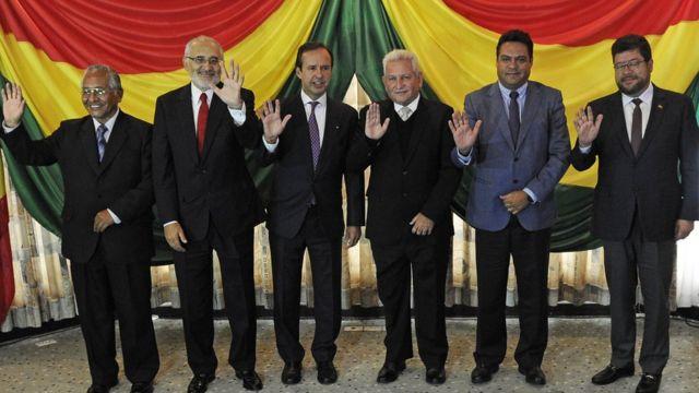 Plataforma de líderes opositores de Bolivia.