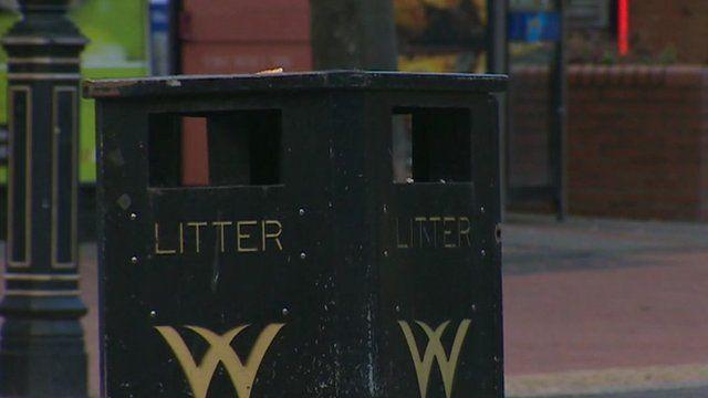 Wrexham litter bin