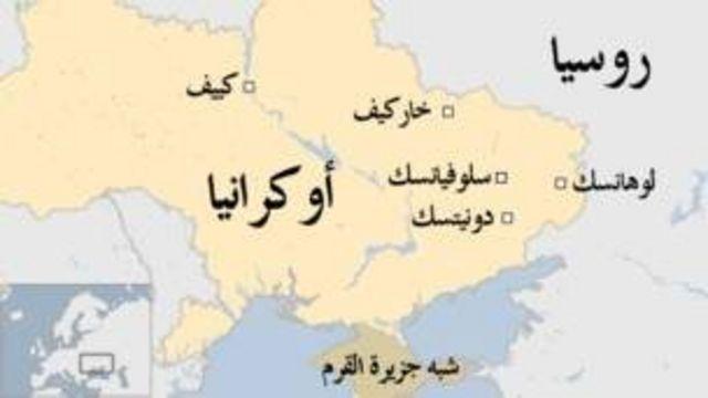 خريطة لأوكرانيا