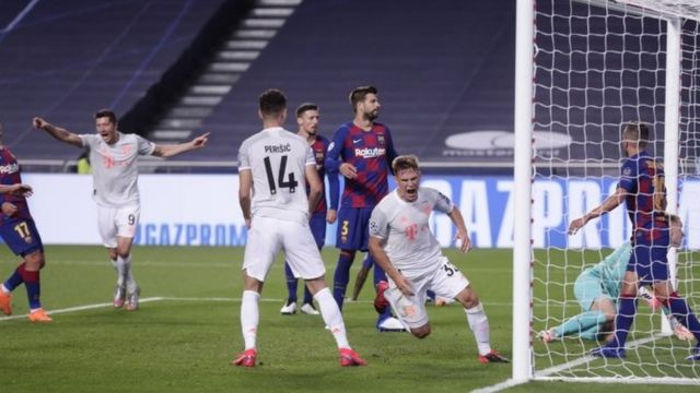 Un gol del Bayern al Barcelona