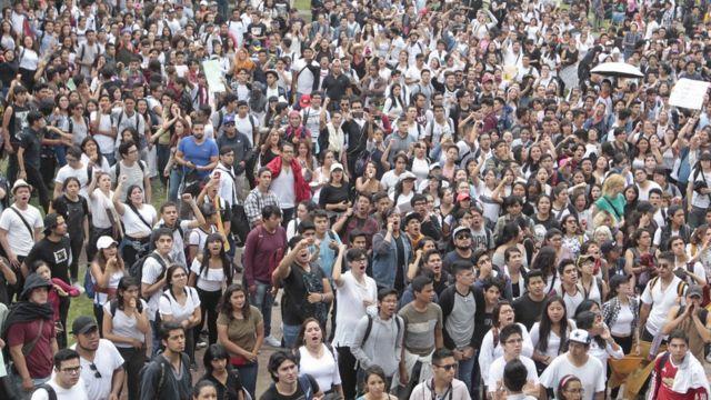 Protesta estudiantil México