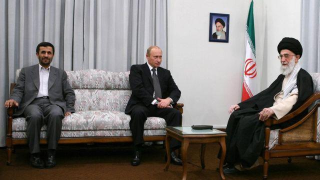دیدار رهبر ایران، محمود احمدی نژاد و ولادیمیر پوتین در تهران، ٢٤ مهر
