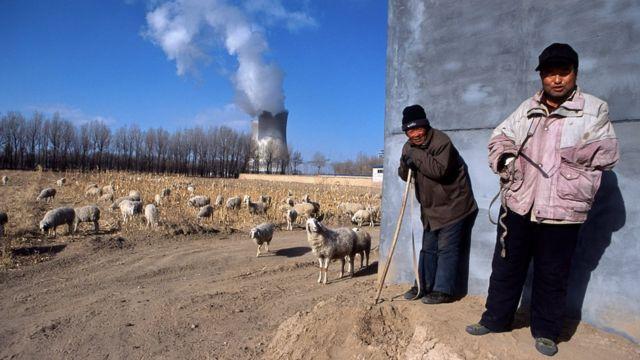 Agricultores en China
