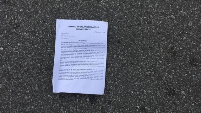 Labour union letter for ground