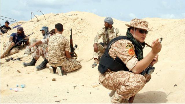 Dakarun Libiya a bakin aiki.