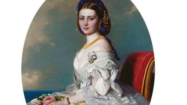 تم تصوير الأميرة فيكي ، ابنة الملكة فيكتوريا ، في هذه اللوحة التي تعود إلى عام 1863.