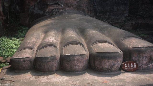 The feet of the Giant Buddha