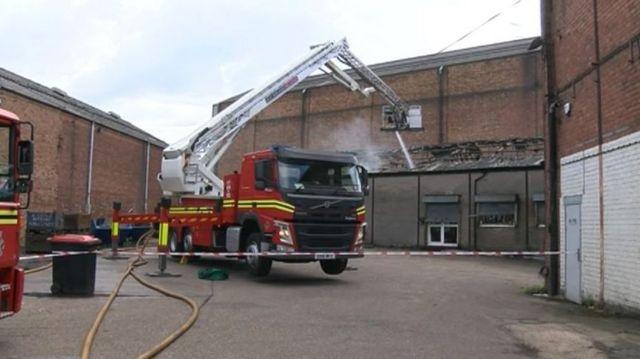 Wolverhampton fire: Arson arrest over warehouse blaze