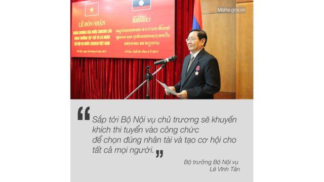 Bộ trưởng Bộ Nội vụ Việt Nam Lê Vĩnh Tân
