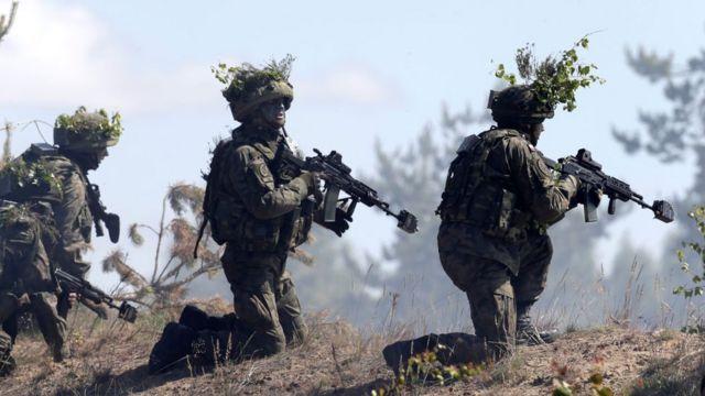 Военные НАТО на учениях в Латвии