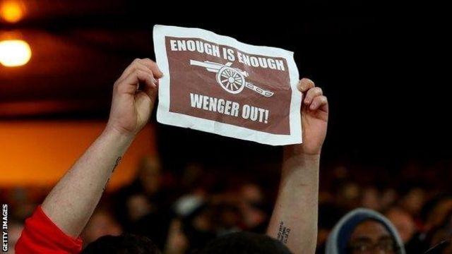 Mashabiki wa Arsenal bado wanataka Wenger aondoke
