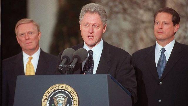 الرئيس كلينتون يخاطب الأمة بعد مساءلته من قبل مجلس النواب الأمريكي