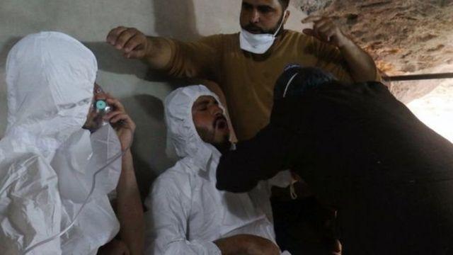 Những người bị thương trong vụ này có triệu chứng giống các phản ứng với chât độc thần kinh