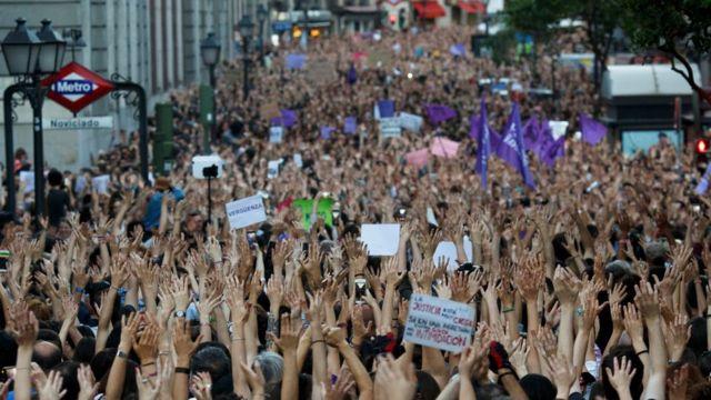 Protestas en Madrid.