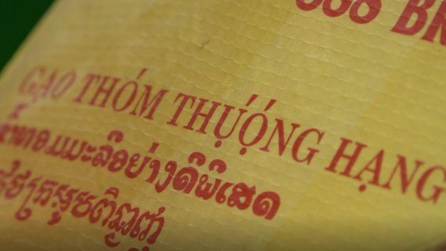 Bao gạo Thái được ghi thông tin bằng cả tiếng Việt