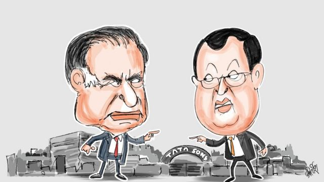 रतना टाटा और सायरस मिस्त्री कार्टून
