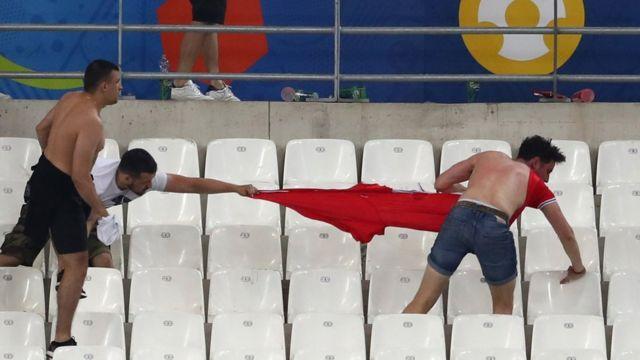 EURO 2016 entre l'Angleterre et la Russie au stade Stade Vélodrome le 11 juin 2016 à Marseille, France