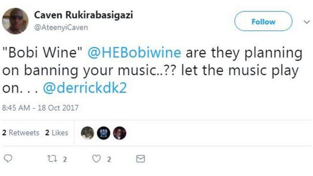 Bobi Wine social media reaction