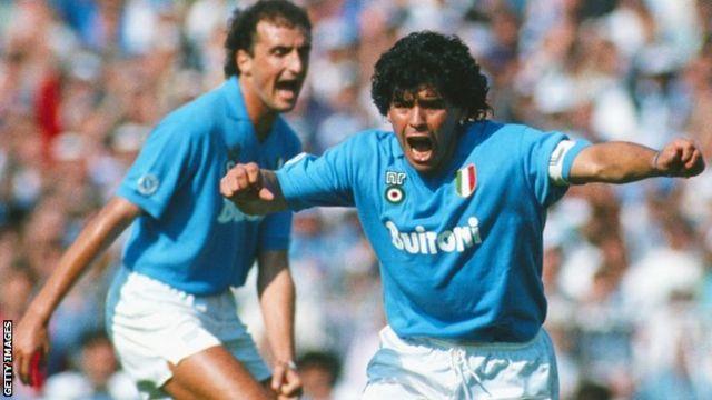Diego Maradona xilliga uu Napoli u ciyaarayey