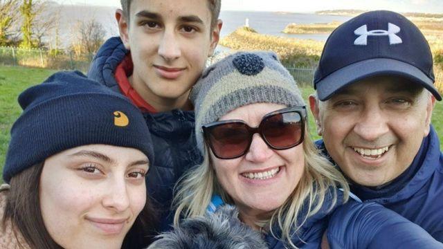 Mal Martin y su familia