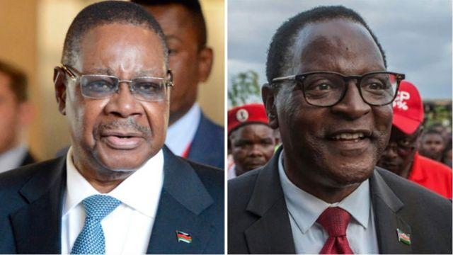 Peter Mutharika na Lazarus Chakwera