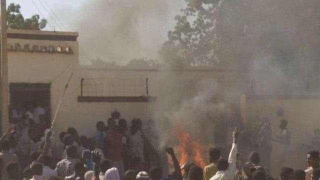 احتجاجات في مدينة الرهد السودانية