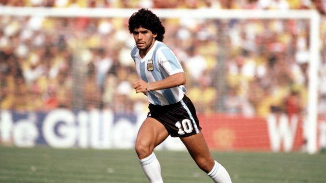 Maradona durante el Mundial de 1982.