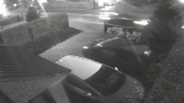 CCTV images just before Matthew Scrimshaw's Audi TT hit and killed Iris Higginson in Eastwood, Nottinghamshire