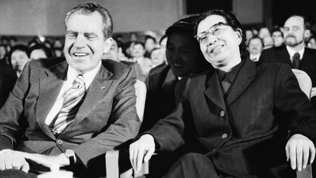 Jiang Qing y Richard Nixon