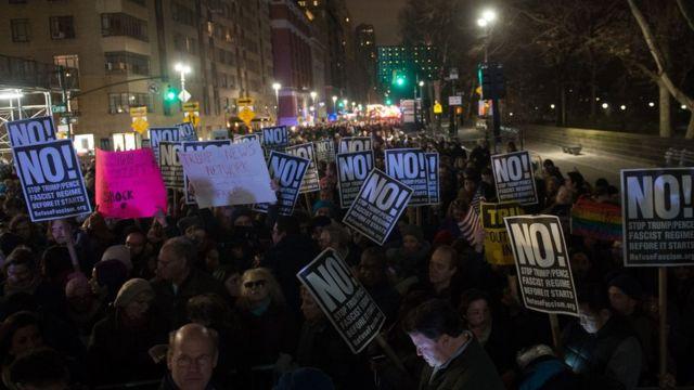 Protesta contra Trump en Nueva York