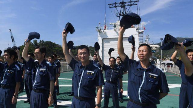Tàu tuần tra Echigo của Lực lượng bảo vệ bờ biển Nhật Bản cập cảng Tiên Sa, Đà Nẵng tháng Sáu