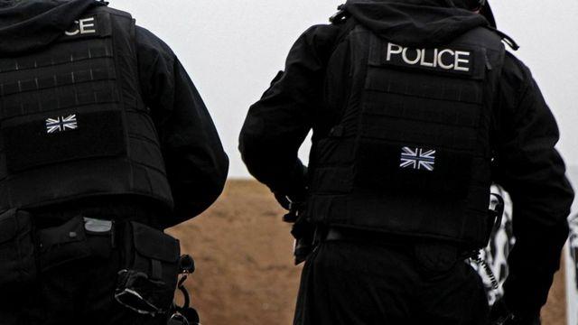 Ядерные полицейские во время тренинга