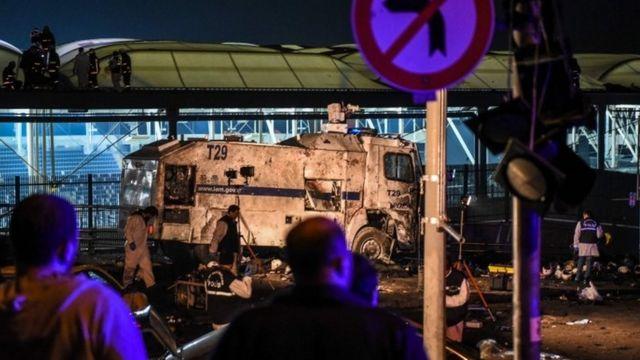 موقع الانفجار في انقرة في 10 ديسمبر/كانون الأول