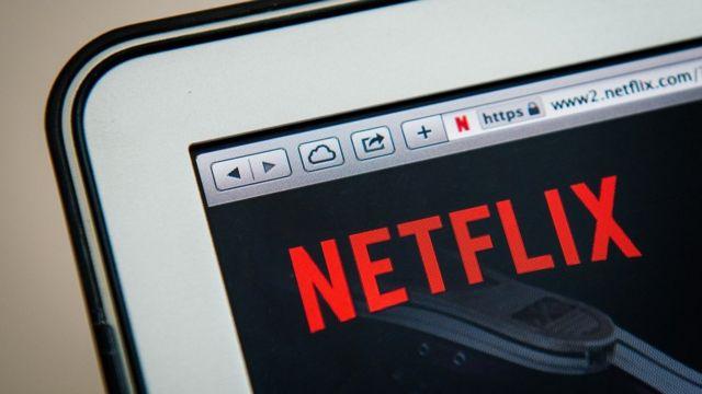Logo de Netflix en una computadora.